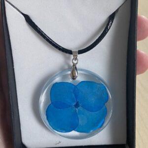 Blue flower pendant