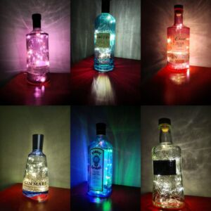 Galaxy Bottle Lamp LED USB / Upcycled / Handmade / Unique / Fairy Lights / Living Room / Bar / Man Cave / Magic / Recycled / Realistic Style