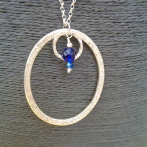 Sterling Silver Textured Pendant