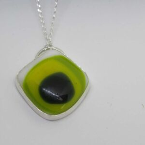 Sterling Silver & Fused Glass Pendant