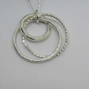 Circles Sterling Silver Pendant