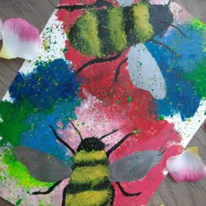 Original acrylic painting - Bees
