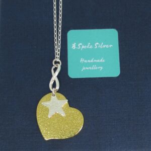 Sterling Silver and Brass Infinite Love Pendant