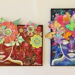 Her Hair Series - Mini Canvases