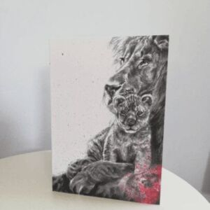 Lion card, Lions pride art greetings card
