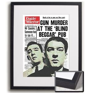 Krays News Print Framed