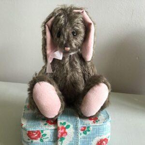 Hester handmade Bronze Mohair Bunny