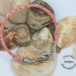 Kumihimo Fine woven Cotton Toggle Bracelet