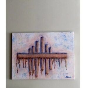 Floating City - Mixed Media Canvas Art