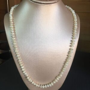 Traditionally Hand Knotted Freshwater Cultured Baroque Pearl 925 Sterling Silver Necklace