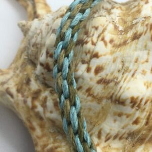 "7"" Kumihimo hand Woven Hemp Bracelet"