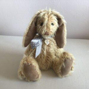 Cree blonde mohair bunny teddy bear