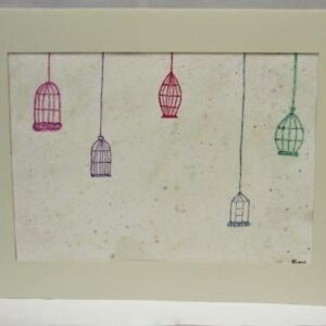Original Watercolour - Mount Framed: Caged