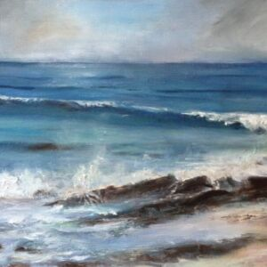 Original Oil Painting 'Coastal Walk from Trevone 2'