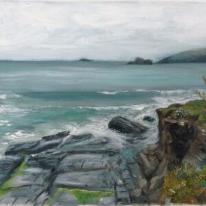 Original Oil Painting - 'Coastal Walk from Trevone'