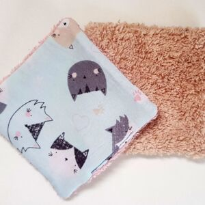 Reusable face wipes - Cats