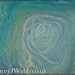 Ocean's Blossom Abstract Fluid Art Painting