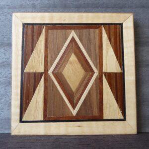 Wood veneer coaster
