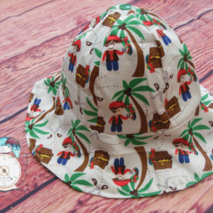A-hoy Baby Pirate hat. 10% of all sales goes to breast cancer and honeybee research.