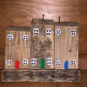 Reclaimed wooden house key holder
