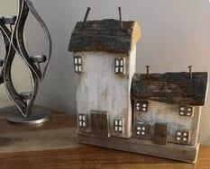 Reclaimed wood bark houses