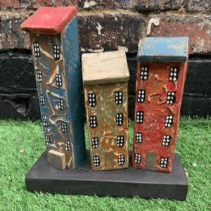 Reclaimed wood block of flats