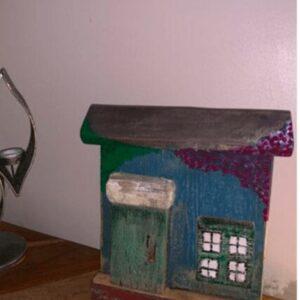 Reclaimed wood flower house