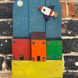 Rocket art for children's rooms