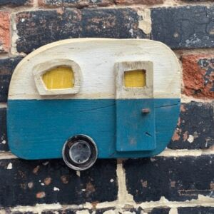 Reclaimed wood caravan wall art