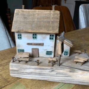 Reclaimed wood pub