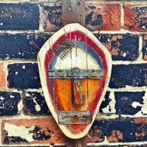 Abstract mask wall hanging