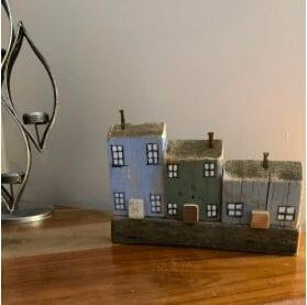 Pastel little wooden houses