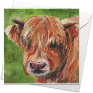 Alexander the Cow - Greetings Card