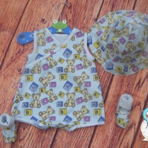 Full outfit for baby boy. 10% of all sales goes to breast cancer and honeybee research.