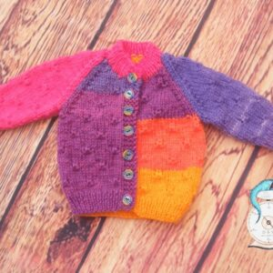 Hand Knitted Multi coloured cardigan