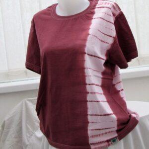 Shibori T-shirt - Cotton Single Suji Stripe