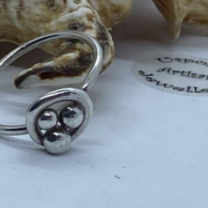 Tribal Argentium Silver Size UK Q Handcrafted Ring