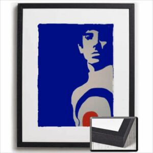 Keith | pop art mod scooter vespa lambretta framed painting print