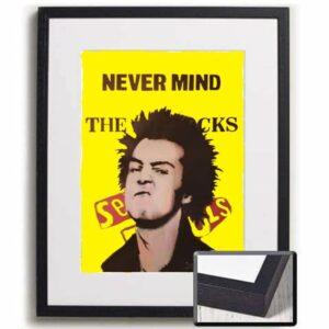 Sid Vicious art print framed
