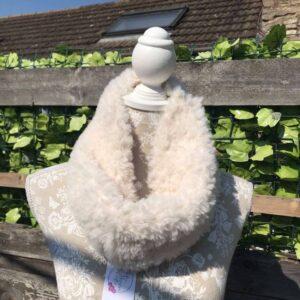 Handmade Faux Fur Cowl - Winter White
