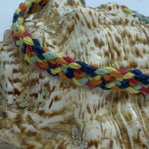 Hemp Kumihimo Flat Weave Toggle Clasp Bracelet