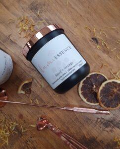 Basil & Orange Aromatherapy Candle