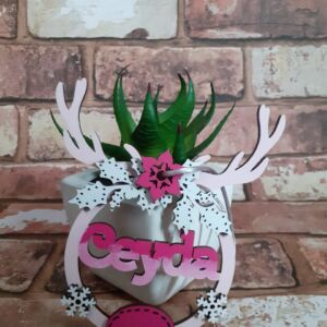 Personalized reindeer bauble, name bauble, christmas decorations, tree decorations