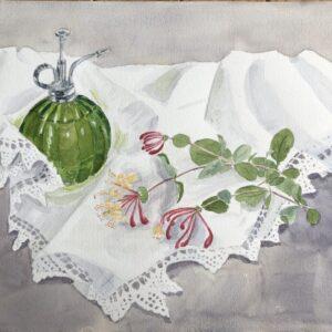 STUDIO SALE - 'Honeysuckle and Lace' watercolour