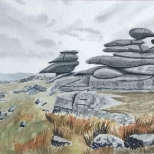'The Moors' Watercolour Painting