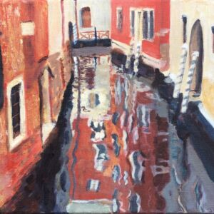 STUDIO SALE - 'Golden Venice' acrylic painting
