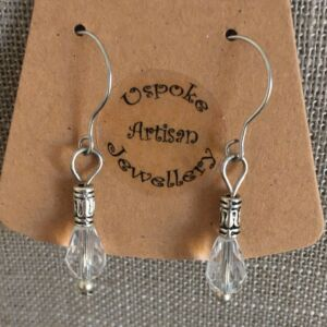 Clear Crystal Silver Plated Earrings