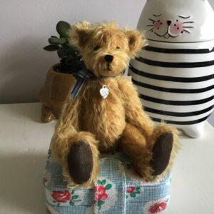 Hamish golden mohair teddy bear