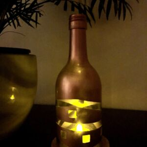 Candle topper copper abstract tea light