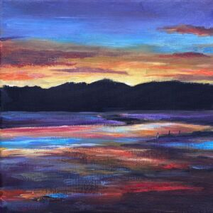 Kippford Scotland sunset fine art print